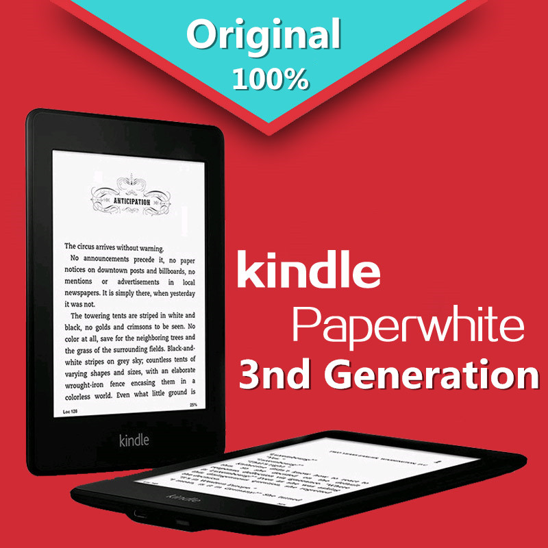 планшет 3q qbook er71b 5124a4r 4gb black Kindle Paperwhite 3nd Generation Black 4GB eBook e-ink Screen WIFI 6LIGHT Wireless Reader With built-in backlight e-Book Reader