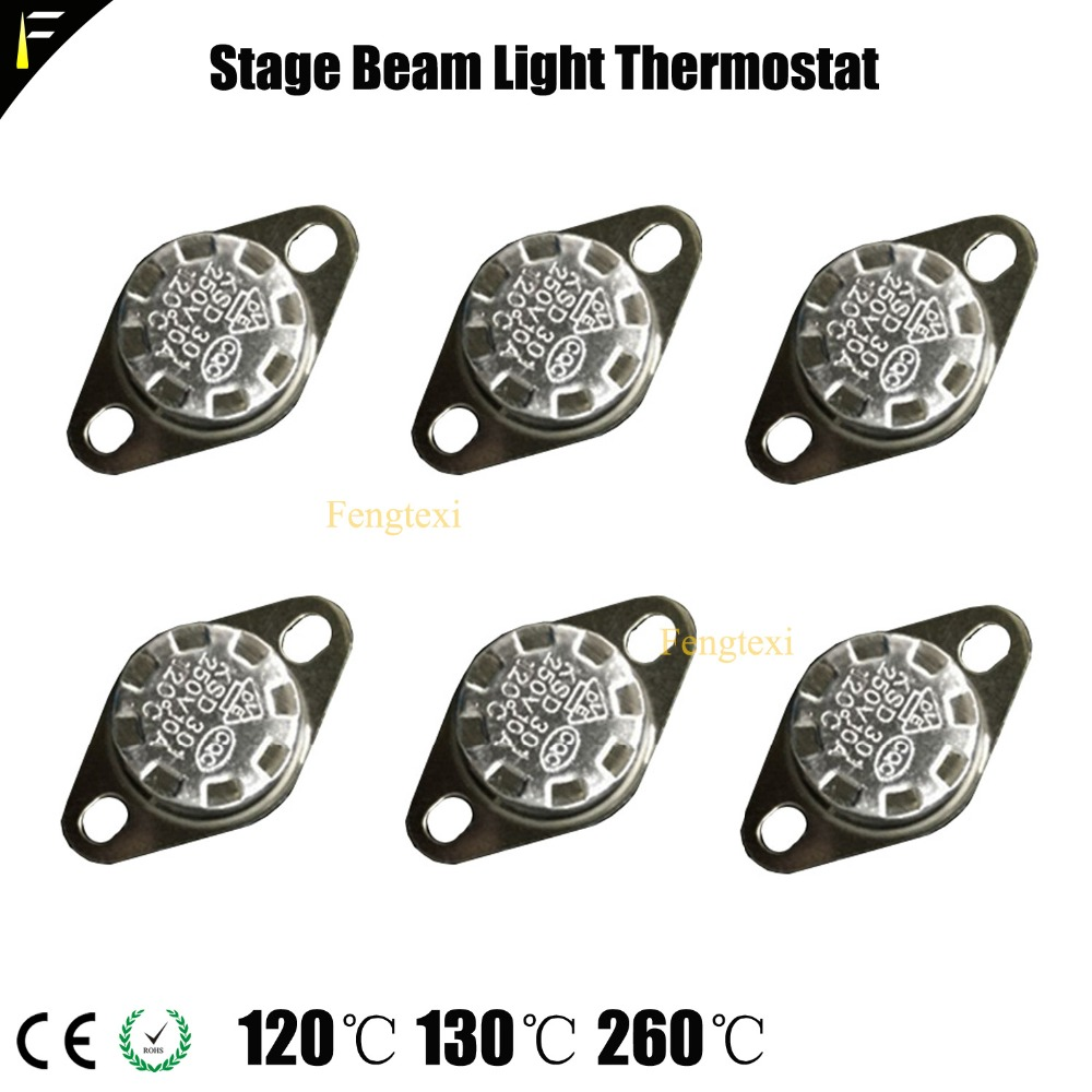 Moving Head Beam Light Heat Detector Smoke Fog Effect Machine Ceramic Thermostat 120 130 260 Degree Celsius