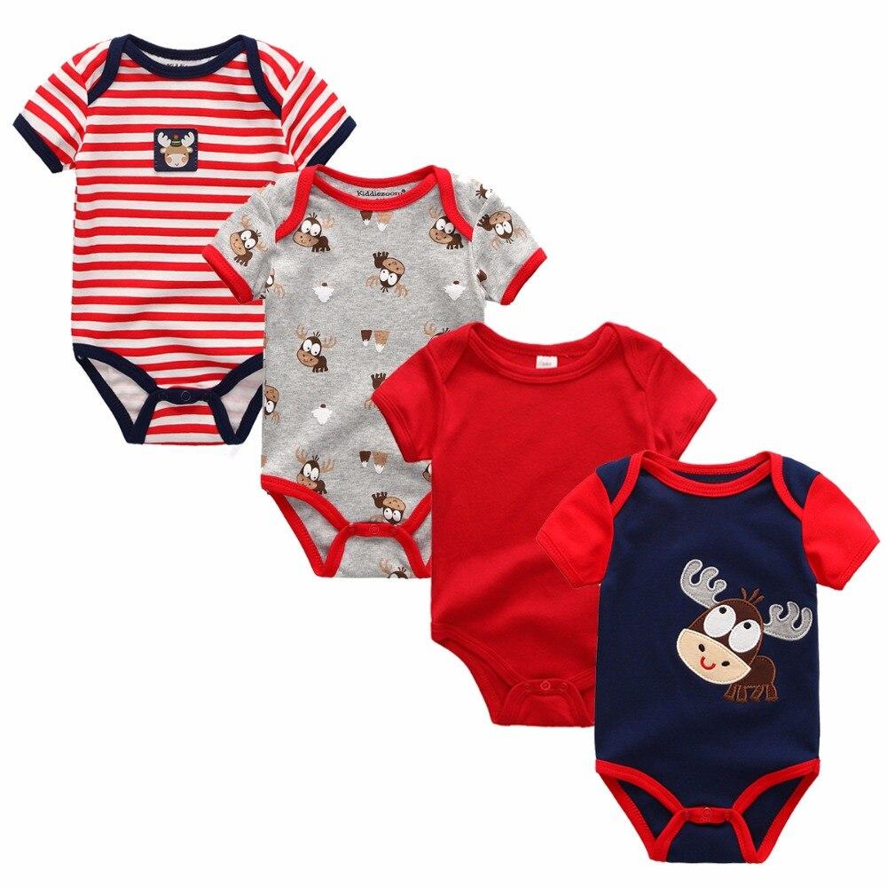 4 Teile/los Neugeborenen Kurzarm Baby Junge Mädchen Bodys Sommer Baby Junmpsuit Baby Junge Mädchen Kleidung Fabriken Und Minen