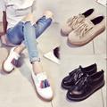 2016 новый кисточкой туфли на платформе с плоским обувь одного женского Британский ветер небольшой кожаные мокасины обувь Оксфорд ленивый обувь