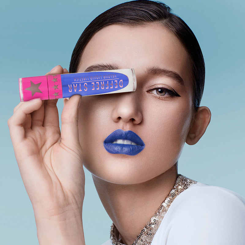 15 สี Blue Blood Liquid ลิปสติก Waterproof Non - stick Cup Metallic Lipgloss Endurance Shimmer โลหะ Lipgloss TSLM1