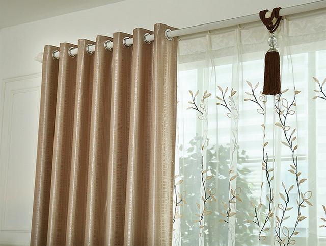 Doppelseiten Plaid Feste Braune Vorhänge Fenster Behandlung Für Bett Zimmer Küche  Zimmer Moderne Vorhang Für Bacony Wohnzimmer