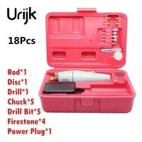 Urijk 18 Pz Mini Trapano Elettrico Grinder FAI DA TE Set di Utensili A Mano Abrasivo Metallo Smalto Macchina Ad alta potenza Power Tool la lavorazione del legno