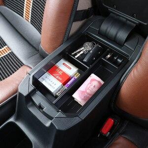 Image 5 - Compartimento de reposabrazos para coche almacenamiento secundario, guantera Central, soporte para teléfono, bandeja contenedor para Toyota RAV4 RAV 4 2013 2014 2015 2016