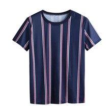 Men T-shirt Striped Shirt Short Sleeve Top SF