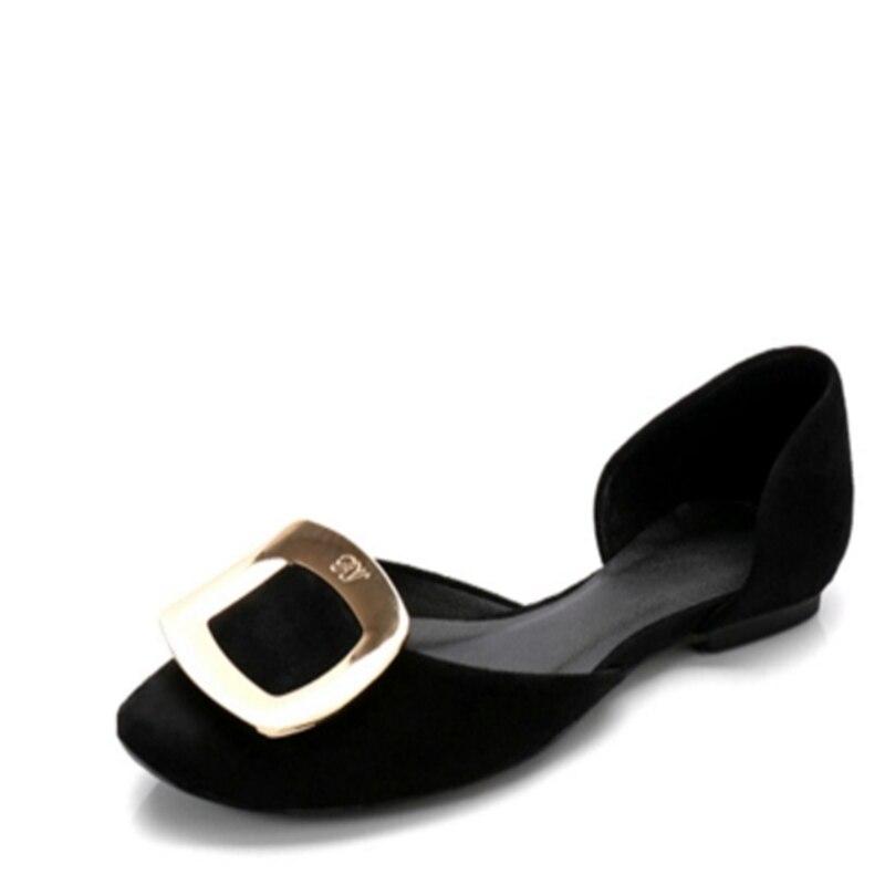Métal Zapatos 1 Simples Nouveau 41 Bout 2018 Chic Plates Femme Creux Chaussures Taille Mujer 34 3 Pointu Fermé Mode 2 Brillant D9E2YWHI