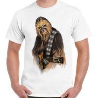 Rochas Mens Engraçado Star Wars Chewbacca Inspirado T-Shirt Da Guitarra Acústica Elétrica Engraçado Casual Camisas do Tipo Top