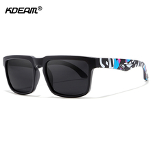 KDEAM Printed Fashion Mens Polarized Sunglasses Cool Shades 12 Colors With Peanut Box KD2501