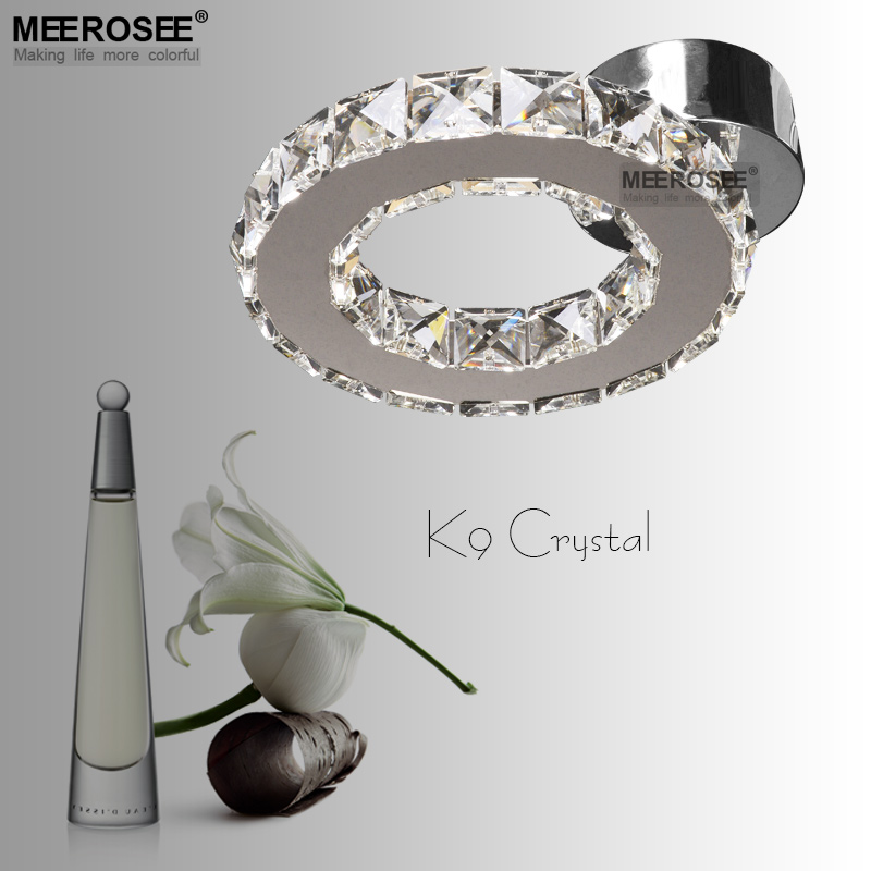 Small LED chandelier Crystal Light lustres Diamond Crystal Ring Light LED Lighting Bedroom Lamp used for Ceiling or Wall silver crystal ring led chandelier crystal lamp light lighting fixture modern led circle light used for ceiling or wall 20cm