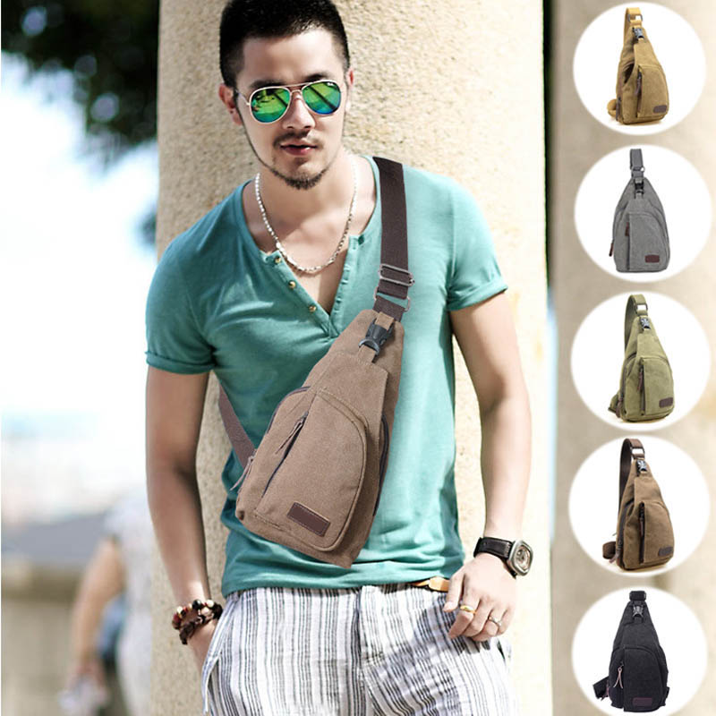 2016 Man Military Messenger Bag  Casual  Travel Chest Bag Canva Small Crossbody MenShoulder Bag WML99