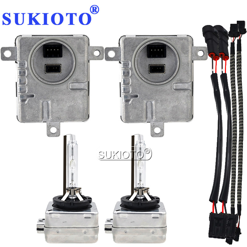 SUKIOTO 55W D1S Xenon HID Kit D3S Canbus Ballast Kit HID Lights D3S 4300K 5000K D1S 6000K 8000K Hid Xenon Bulb Headlight D1R D3R