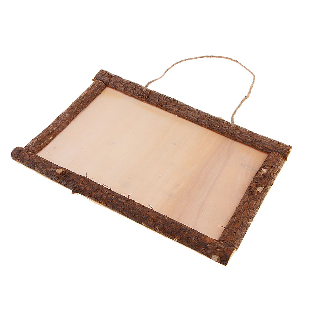 Wooden Photo Frame Vintage Style Blank Wood Picture Frame Sign Plaque for Rustic Wedding Decoration, Home Decor Crafts