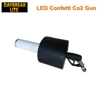 LED co2 confetti gun stage effect handhold DJ machine battery power led colors auto change, co2 and confetti effect