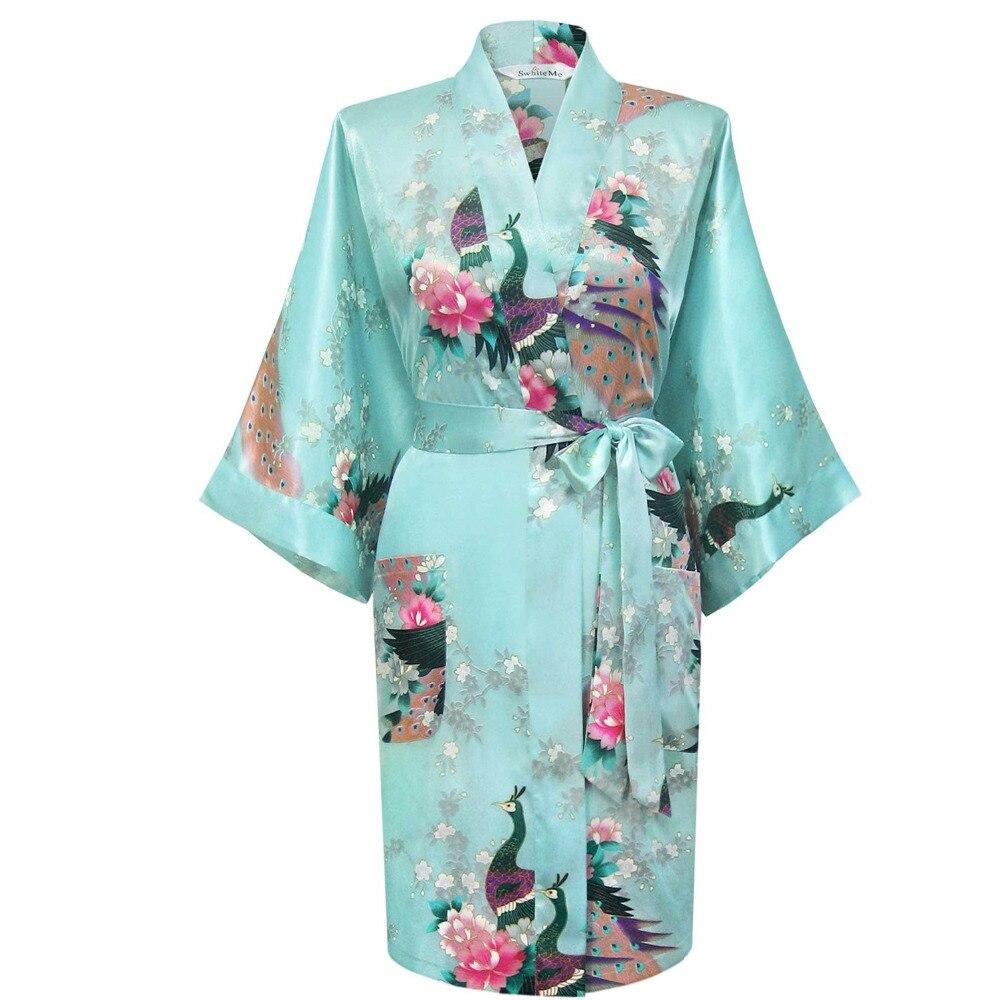 Frauen Robe Sexy Brautkleid Seidenroben Für Brautjungfern Nachthemd Nachtwäsche Nachthemd Satin Bademantel Königlichen Kimono 010408