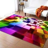 Nordic Style Geometric Pattern 3D Carpet Large Size Living Room Bedroom Tea Table Rug and Carpet Rectangular Antiskid Floor Mat