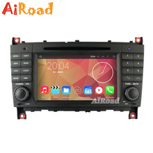 RK3188 Quad Core 1024*600 Android 4.4.4 Kitkat Car DVD for Mercedes Benz W203 W209 C Class CLK Car Stereo GPS Radio Navigation