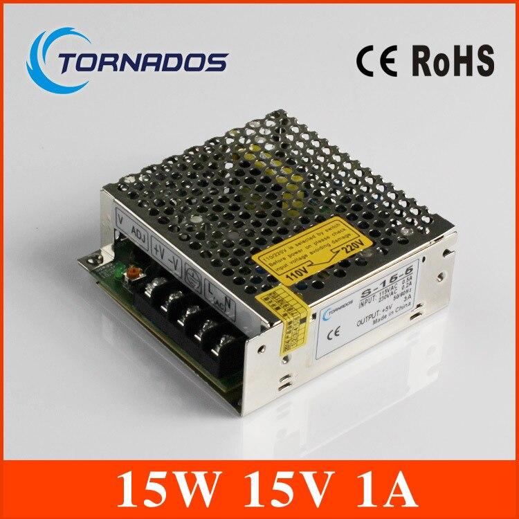 15W 15V 1A Single Output Switching power supply for LED Strip light AC-DC S-15-15 1200w 48v adjustable 220v input single output switching power supply for led strip light ac to dc