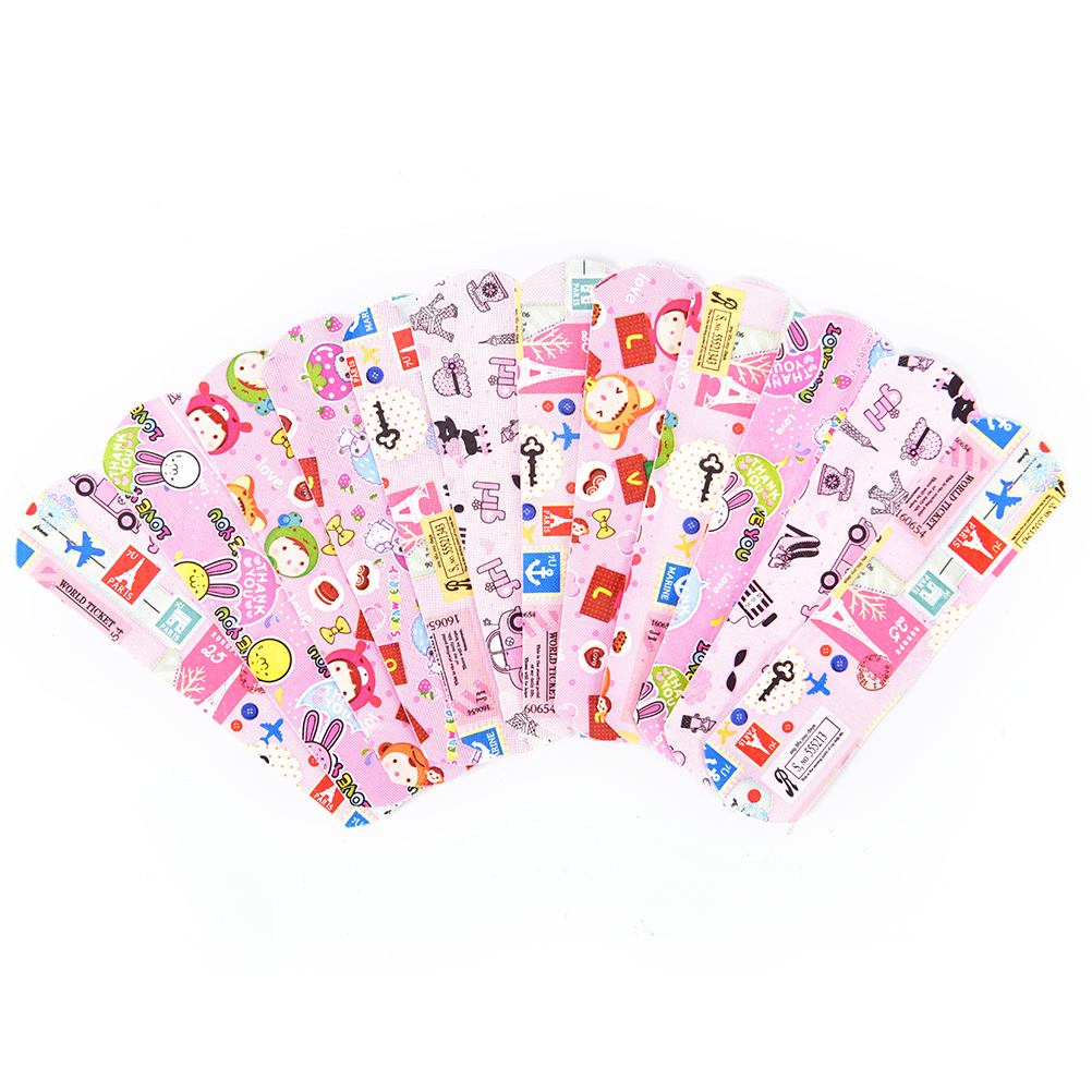 50Pcs First Aid Emergency Kit For Kids Children Skin Care Cartoon Band Aid Hemostasis Adhesive Bandages Waterproof Breathable