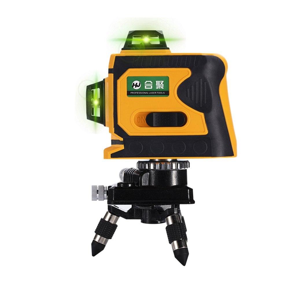 Linhas 12 3D Nível Laser Range Finder Auto-Nivelamento 360 Horizontal E Vertical Cruz Super Poderoso Feixe de Laser Verde linha