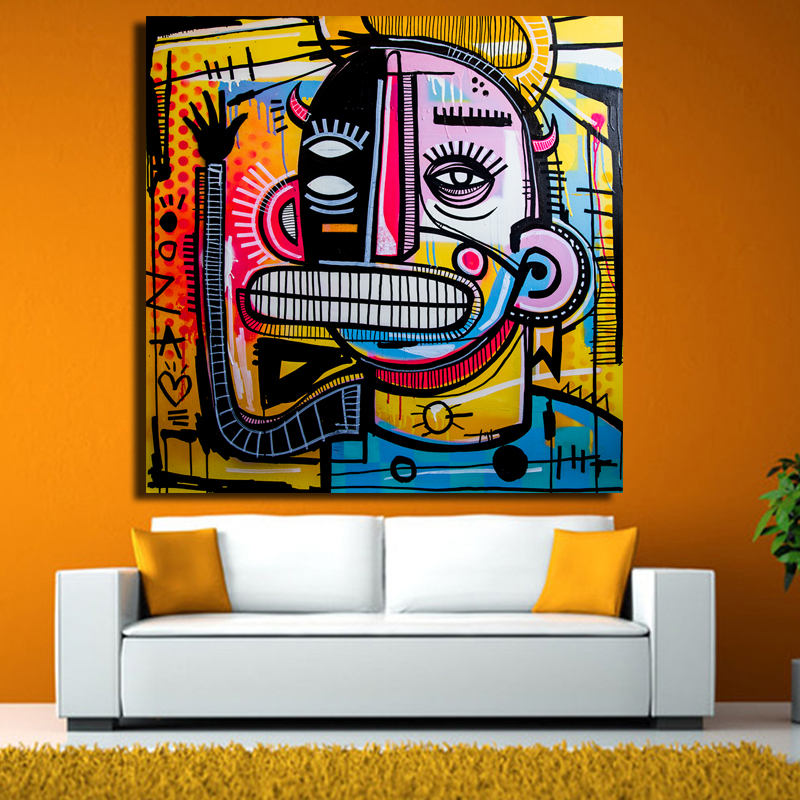 large Hd print canvas painting Bruce Willis poster art modern home ...