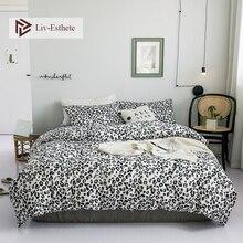 Liv-Esthete Hot Sale Sexy Leopard Print 100% Cotton Bedding Set Soft Duvet Cover Pillowcase Flat Sheet Double Queen King Bed