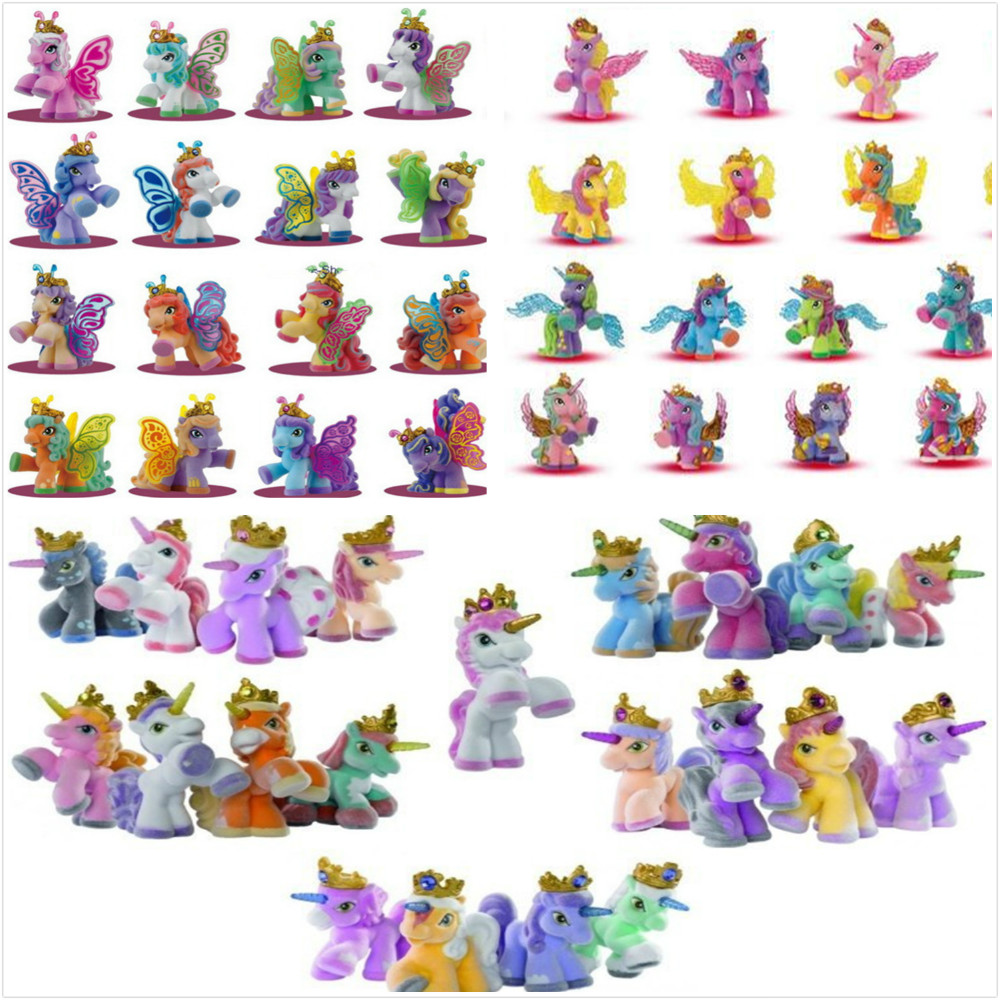O для U 10 шт./лот большие 5 см Filly Simba конек Куклы Filly лошадь малыш Рождественский подарок животное игрушка бабочка единорог и т. д. ...