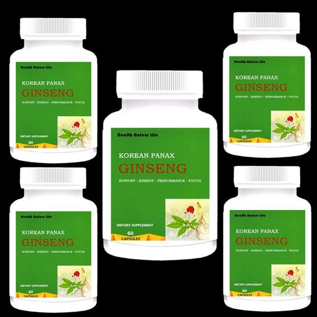 Korean Red Panax Ginseng: 500 mg * 60-300 Caps