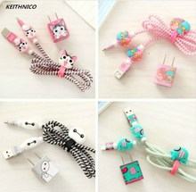 ФОТО USB Earphone Data Line Protector Cable Winder Cord Organizer Protection Wrap Charger Sticker  iPhone 5 5s 6 6s  7 7plus