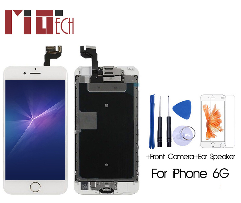 For iPhone 6 6g 6s plus LCD Display Touch Screen Digitizer Full Assembly Replacement +Front Camera+Ear Specker+Home Button+Gifts image
