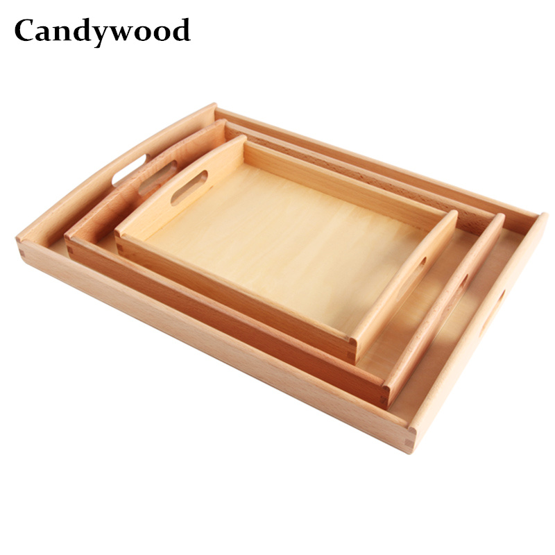 Candywood High quality Beech wood Montessori Materials Tray Toys Baby kids Early Education Preschool Toys Teach Receives Pallet montessori materials hand balance coordination wood sensory toys early educational toys preschool can smarter