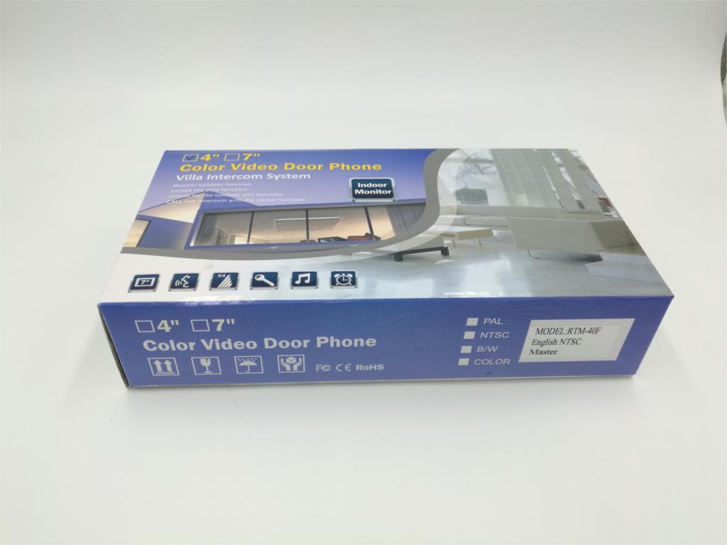 4 Inch HD Led Monitor for Video Door Intercom System Door Bell Metal Doorbell package