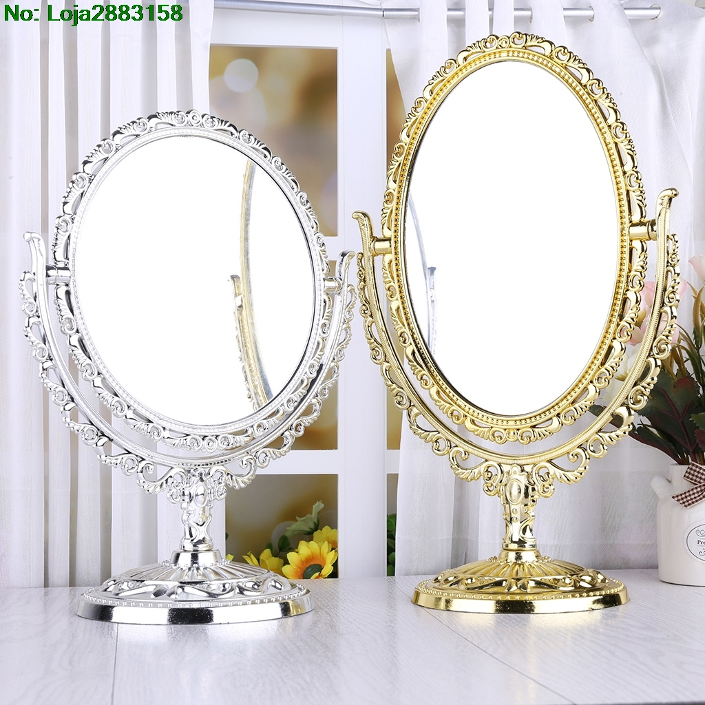 1PC New Desk Table Stand One Sided Beauty Cosmetic Makeup Bedroom Mirror Women