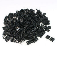 FC 10P 2.54mm Pitch Position Flat Cable IDC Socket Connector Black 200 Pcs Free shipping