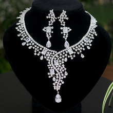 Bright Spark Plug Cubic Zircon Earrings Necklace Dinner Sst Wedding Dress Dress Accessories