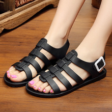 New Stylish Summer Sandals Female Crystal  Beach Shoes Non-slip soft black Jelly 35-40