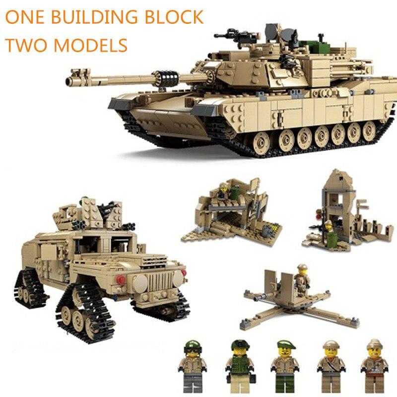 Kazi 1463 piezas ladrillos militares M1A2 tanque Abrams Tanque de batalla principal 2in1 juegos de bloques de construcción bloques deformables Hummer modelos Juguetes-in Bloques from Juguetes y pasatiempos on AliExpress - 11.11_Double 11_Singles' Day 1