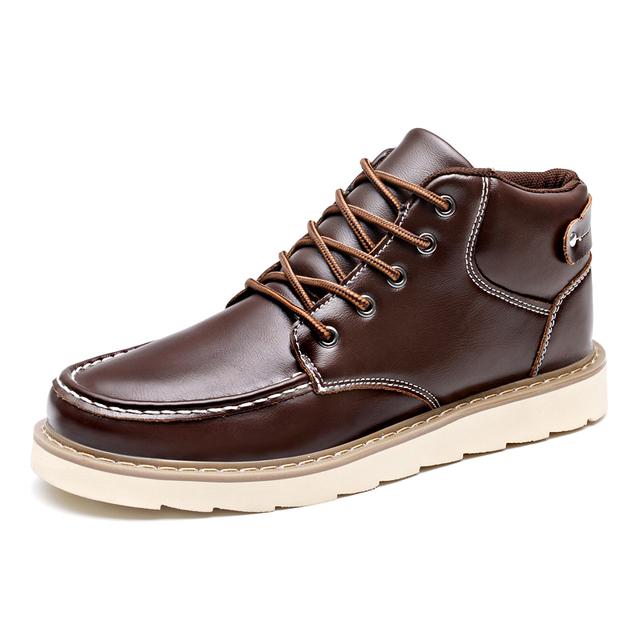 2017 Otoño Invierno Marca Hombres Zapatos Martin Botas de Cuero Botas de Nieve Caliente Al Aire Libre Casual Botas de Madera Botas Hombre
