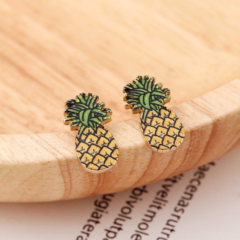Jisensp Новая мода матовый ананас серьги лакомство минималистский серьги для Для женщин минималистский подарок pendientes mujer moda OED112