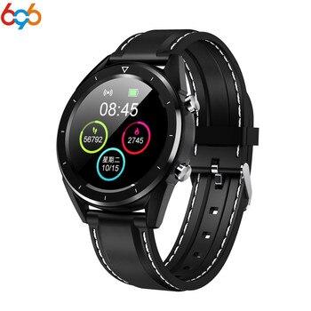 Reloj inteligente 696 DT28 para hombre Ip68 impermeable cronómetro Ecg Monitor de ritmo cardíaco rastreador de actividad presión arterial deporte Smartwatch
