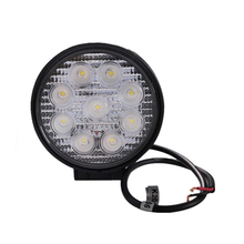 ECAHAYAKU 1PCS LED Work Light BAR 27W 12V Offroad Round Off road motorcycle fog spot Flood for Boating Hunting
