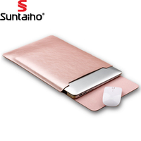 PU Leather Laptop Bag For Macbook Air 13 11 Pro 13 15 12 Laptop Case Notebook