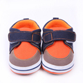 Baby Crib Shoes for Girl Canvas Sneakers Hook-Loop First Walkers Rubber Sole Newborn Shoes Infant Prewalkers Toddler Boy Loafers