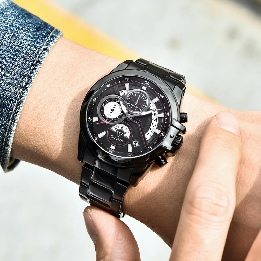 CADISEN Heren business horloge Top militair merk Casual Fashion luxe - Herenhorloges - Foto 2