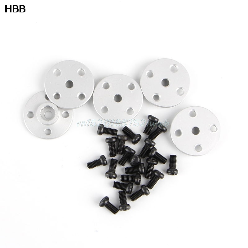 купить 5 x 25T Servo Arm Metal Horns For MG995 MG996 RC Servos Robot Arm Round #T026# недорого