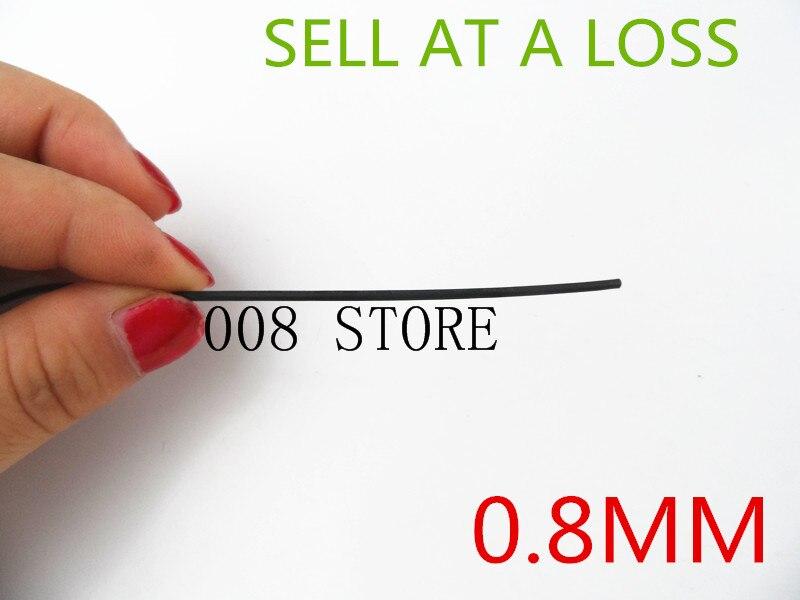 1 Meter/lot L48 2:1 Black 0.8mm Best Diameter Heat Shrink Tubing Tube Sleeving Wrap Wire