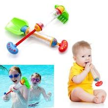 цена на 1PCS Kids Squirt Water Gun Summer Pump Soaker Pool Toy Shovel/Rake Shape Prop