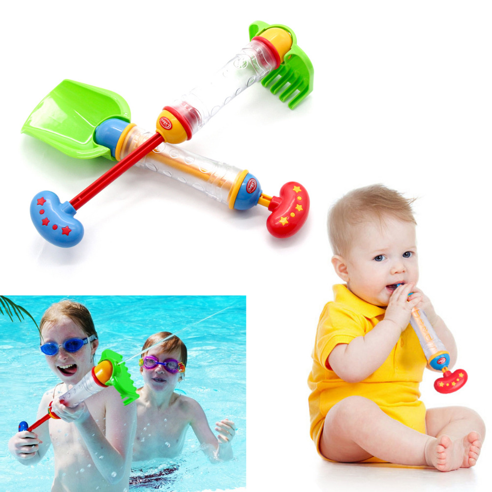 1PCS Kids Squirt Water Gun Summer Pump Soaker Pool Toy Shovel/Rake Shape Prop