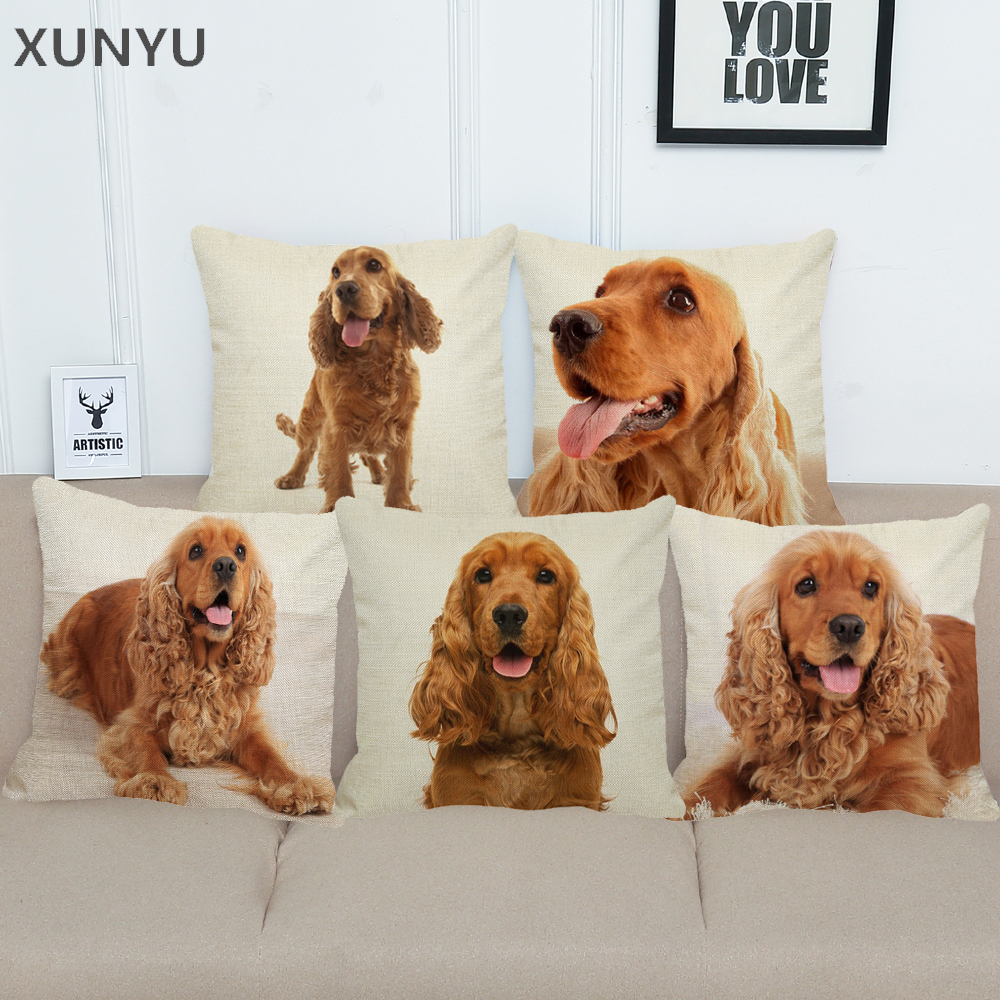 Home Furniture Diy Cushions Throw Cushion Cover Reserved For The Dog Cocker Spaniel Scrabble Themed Bortexgroup Com