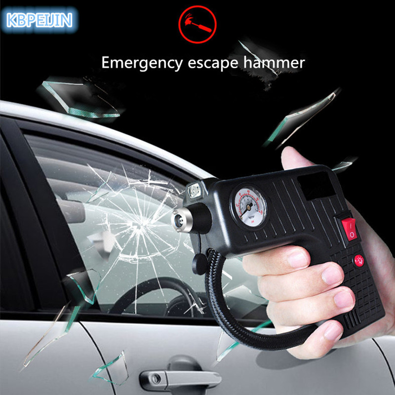 Portable 12 V voiture Auto électrique compresseur d'air pneu gonfleur pompe lampe de sauvetage pour Hyundai elantra ix35 solaris accent accessoires