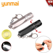 YUNMAI 2019 New Portable Mini Penlight T6 2000LM LED Flashlight Torch Pocket Light Waterproof Lantern  AA Battery Powerful Led